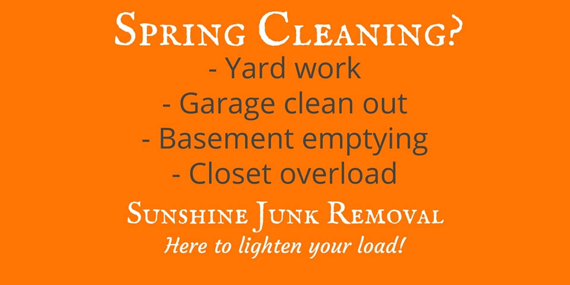 Spring Cleaning Help